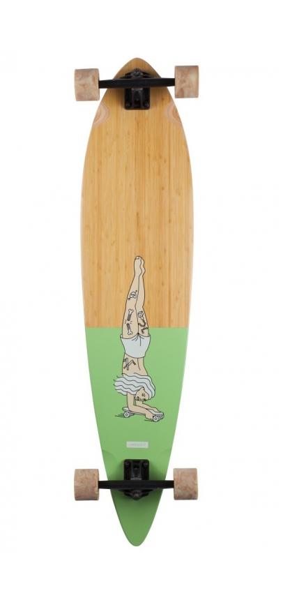 Landyachtz Bamboo Pinner Handstand
