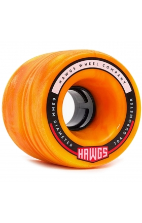 Landyachtz Fatty Hawgs Orange 63Mm - 78A