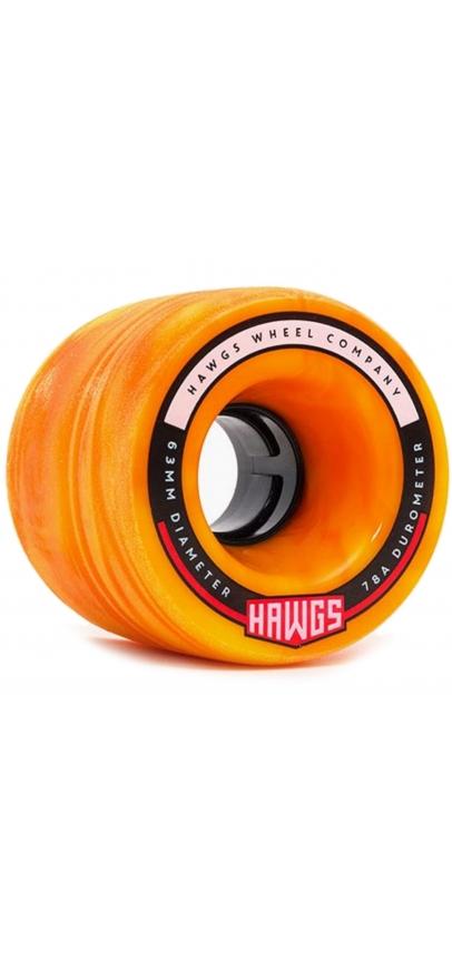 Landyachtz Fatty Hawgs Orange 63Mm - 78A