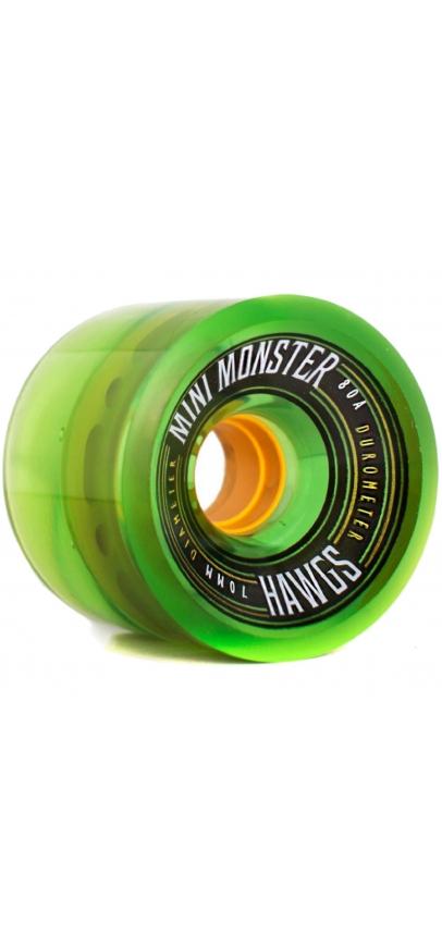 Landyachtz Mini Monster Hawgs 70Mm - Clear Green 80A